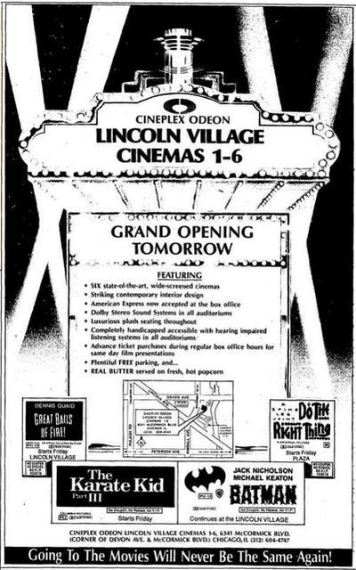 June 29th, 1989 grand opening ad