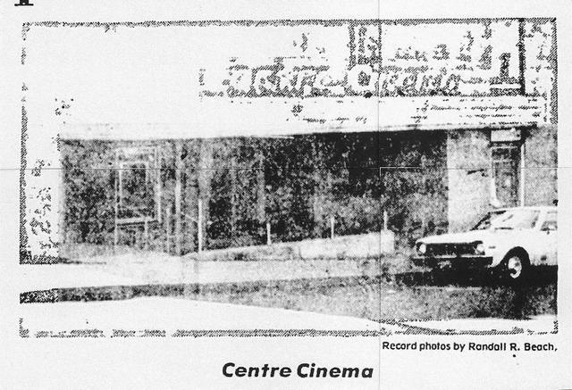 Centre Cinema November 1975
