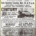 Century 21 grand opening newspaper advertisement, San Jose Mercury News, November 1964