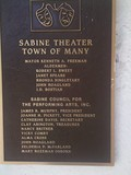 Plaque on the Sabine Theater - Taken Oct 16,  2011