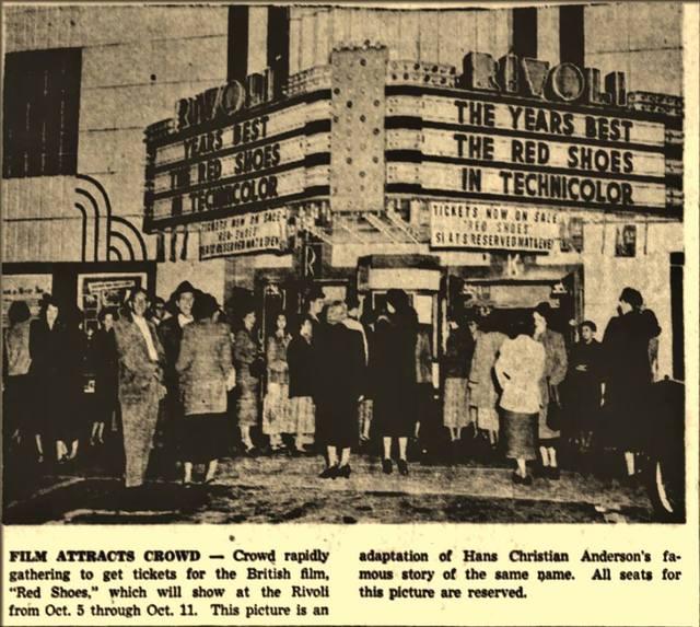 Newspaper Photo: Rivoli Theater, Altoona, PA