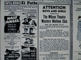 Wilson Theater Advertisement