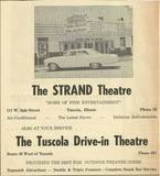 Strand Theatres and Drive In advertisement