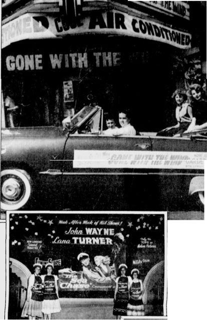 Vintage film promotional displays