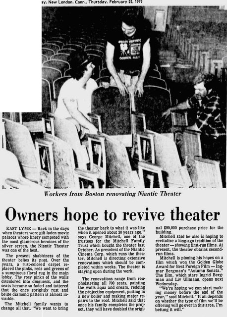 February 1979 article about new owners and remodel