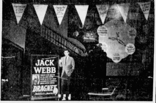Vintage film promotional display