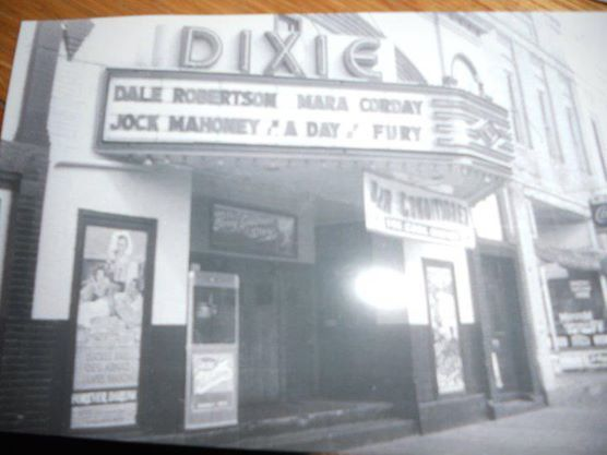 Days of Fury on the Marquee at the Dixie Theater
