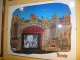 Evanston artist Ron Crawford's painting of the Varsity that hangs in Dave's Italian Kitchen.