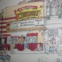 Evanston artist Ron Crawford's painting of the Coronet that hangs in Dave's Italian Kitchen.