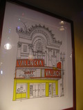 Evanston artist Ron Crawford's painting of the Valencia that hangs in Dave's Italian Kitchen.