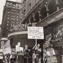 Richard Nickel protesting demolition of the Garrick Theatre in 1960. Image via Tim O'Neill.