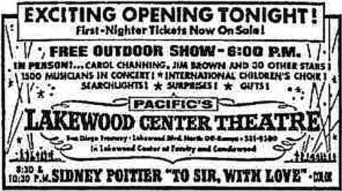 January 17th, 1968 grand opening ad