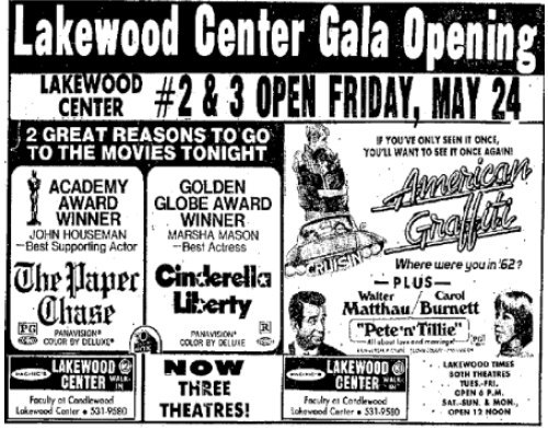 May 22nd, 1974 grand opening ad