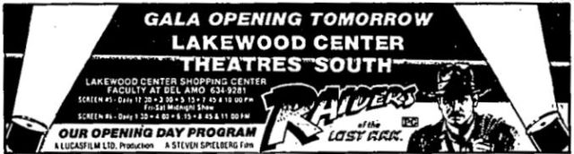 June 11th, 1981 grand opening ad