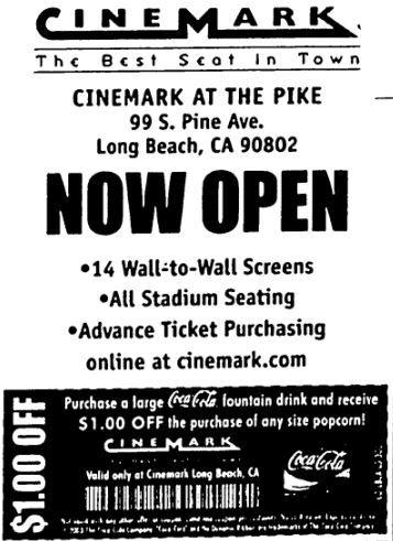 November 14th, 2003 grand opening ad