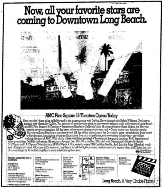 December 18th, 1992 grand opening ad