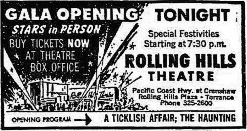 October 2nd, 1963 grand opening ad