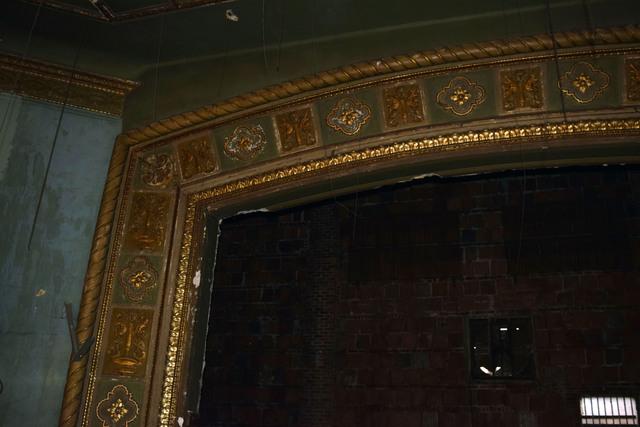 Stage Right Side of Proscenium, Ritz Theatre Carteret NJ 12-17-14
