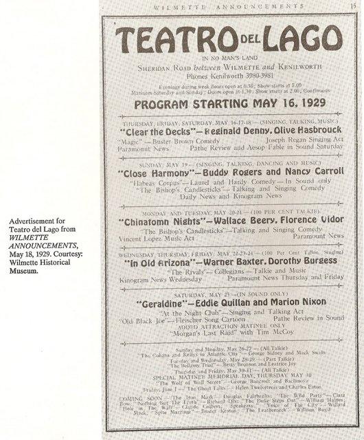 1929 announcement courtesy of DimBeautyOfChicago Blogspot.