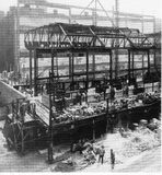 Steel framework going up. Photo courtesy of Darla Zailskas.
