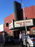 <p>Theater Owner out front day of reopening Sept. 28, 2014</p>