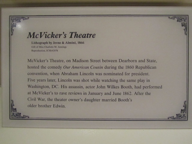 McVickers Theater 1862 history fact.