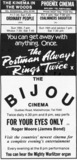 Opening advert for the Bijou Mablethorpe