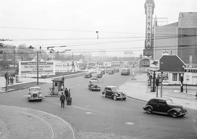 Another 1938 IDOT photo with B&K on blade sign visible.