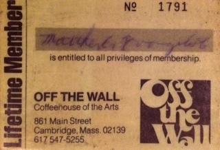 Off the Wall lifetime membership card