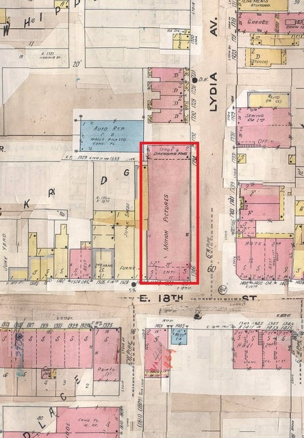 Map showing Lincoln Theater