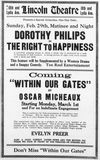 Advertisement for Lincoln Theater