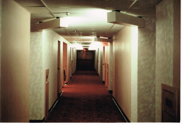A view of the west hallway