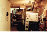 <p>View of the west side of the projection booth.</p>                            <p>Picture taken in May 1990</p>