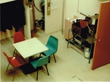 <p>The employee break room.</p>                            <p>Picture taken in May 1990</p>