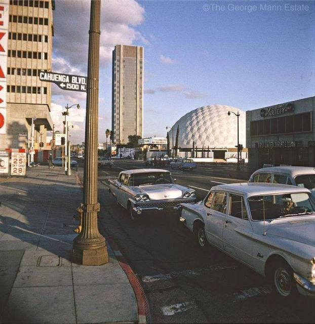Cinerama Dome in the background in the early `60's. Photo credit The George Mann Estate.