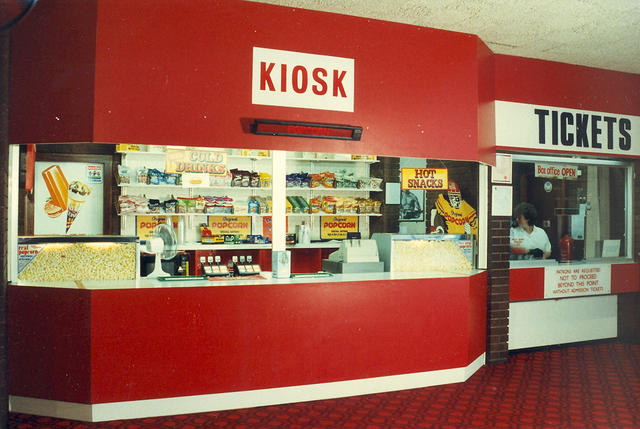 View of Box Office and Concessions 1989