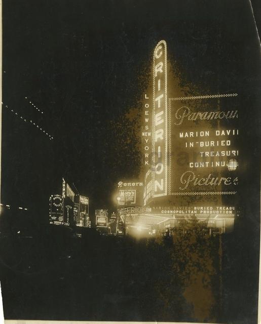 Original NYC Criterion Theatre 1921
