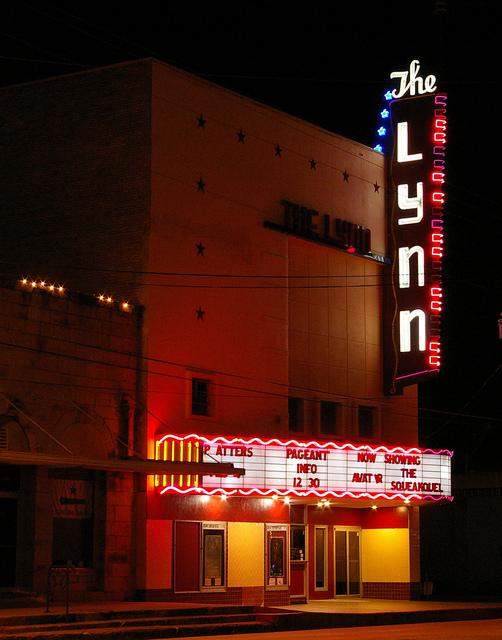 Lynn Theater at night