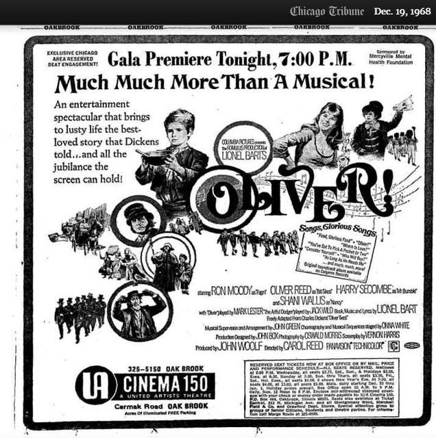 Gala Premiere of OLIVER! at the UA CINEMA 150