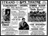 July 19th, 1924 reopening ad as Sipe