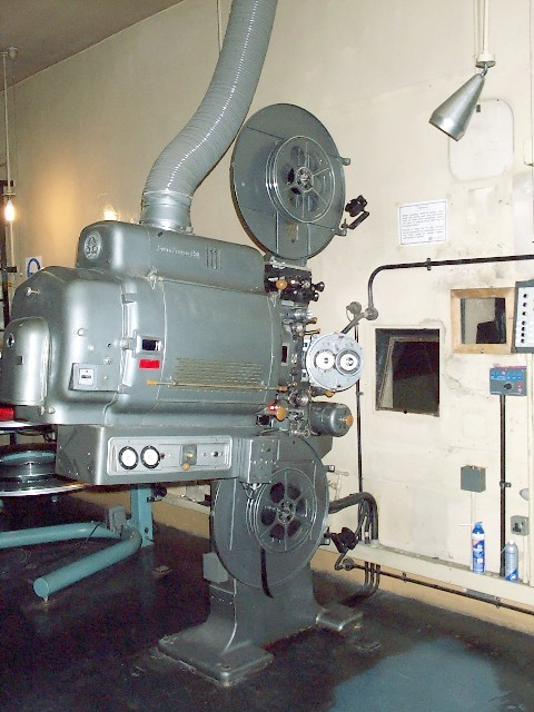 A projector at the Odeon Headrow Leeds