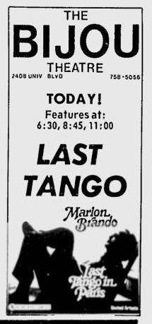 April 18, 1974 Bijou Theatre