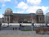 The New Victoria / Odeon Bradford under scaffolding in April 2013