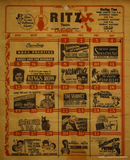 <p>Show schedule from the old Ritz on display inside the restaurant.</p>