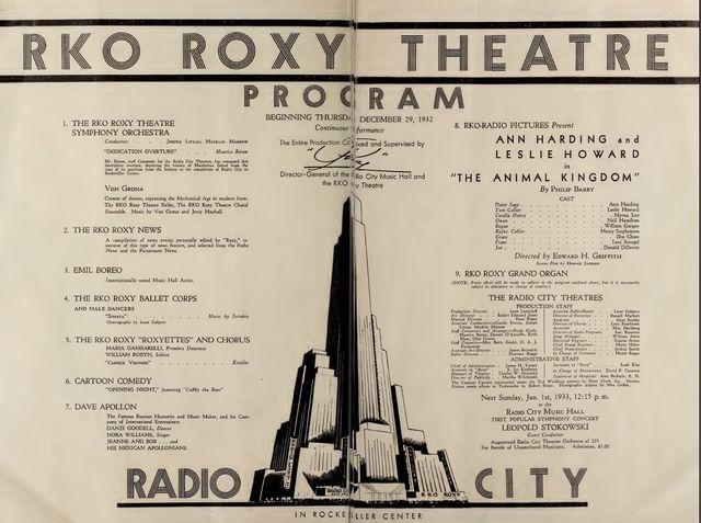 Center Theatre opening program