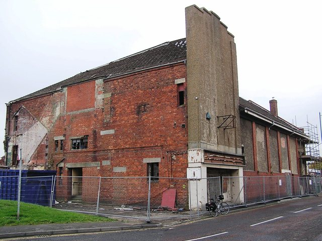 The Empire Seaham being demolished in September 2006