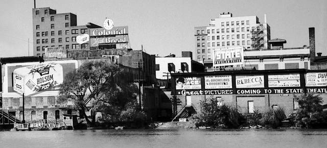 Backside of State Theatre 1946 courtesy of Bob Anderson via the RockfordReminisce.com Facebook page.