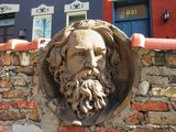 Garrick facade stone face 827-831 N. Dearborn. Photo credit Former Eastchicagoan.