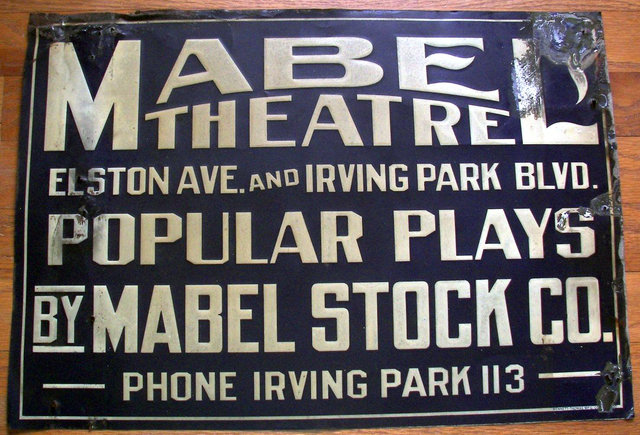 MABEL (REVUE) Theatre; Chicago, Illinois.