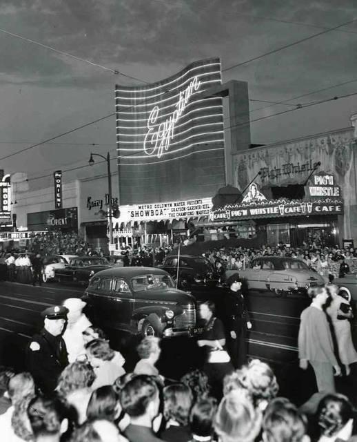 "World premiere of ""Showboat"" July 17, 1951. Photo courtesy of Robert Juzefski."